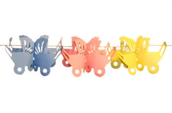Stroller garland Colorful