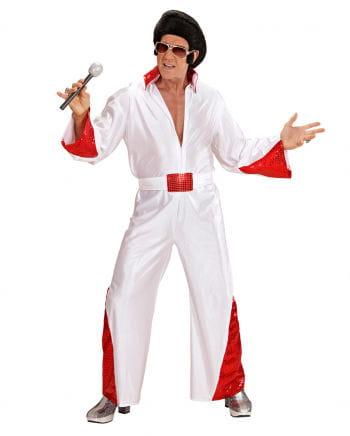 King of Rock Kostüm mit rotem Glitter M