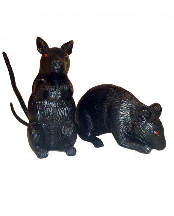 Kleine, schwarze Maus 8cm