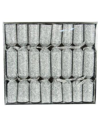 Crackers glitter effect Silver 8 St.
