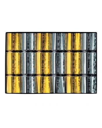 Knallbonbons Gold/Silber 12 St.