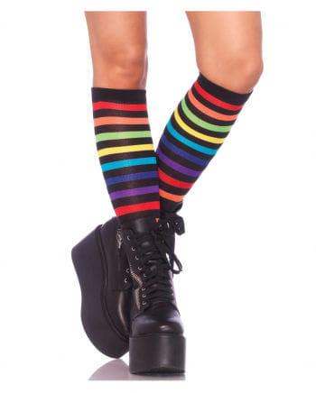 Kniestrümpfe Rainbow Striped