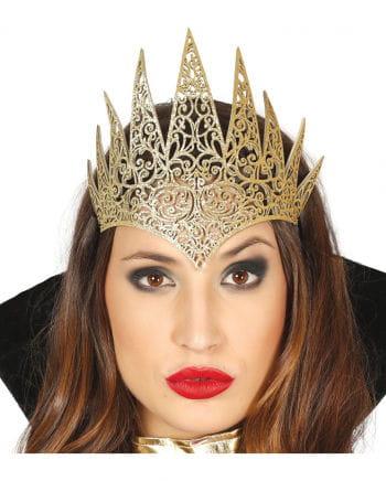 Queen Glitter Crown Gold