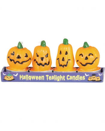 Pumpkin Tealight Pack Of 4
