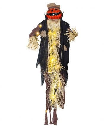 Pumpkin scarecrow with light 87 cm