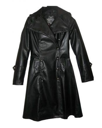 Kunstleder Uniform Mantel Gr.L