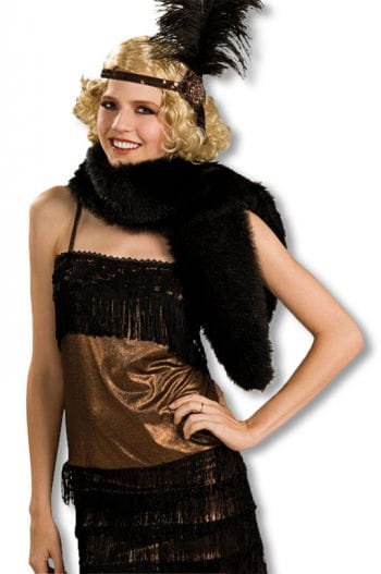 Art black fur stole