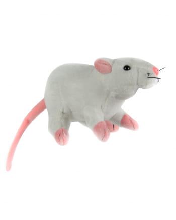 Kuscheltier Ratte 19cm weiß