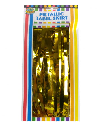 Tinsel Table Skirt Gold