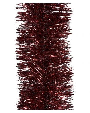 Lametta-Girlande - Bordeauxrot 2,7m