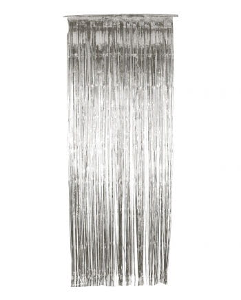 Tinsel curtain silver