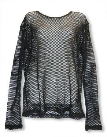 Long Sleeved Fishnet Shirt Size L