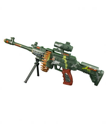 LED Camouflage machine gun