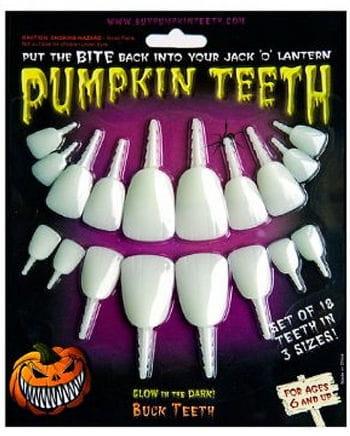 Leuchtende Kürbis Zähne
