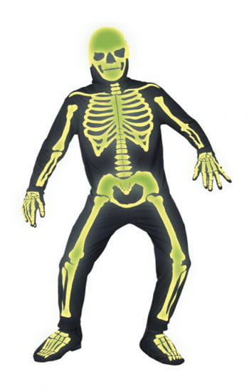 Leuchtender Skelett Jumpsuit XL