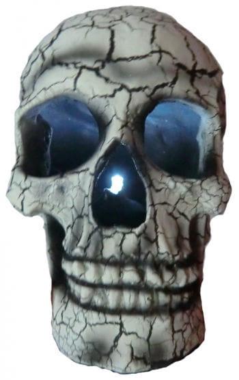 Leuchtender Totenkopf Weiß
