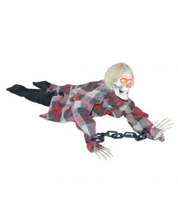 Lying Mini Skeleton In Chains With Sound