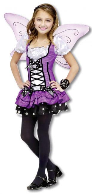 Lila Elfen Kinder Kostüm Gr. L L