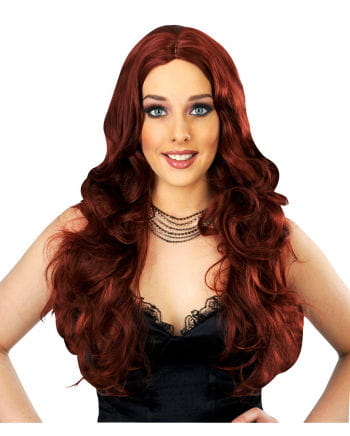 Curly Lady's Wig Mahagonirot