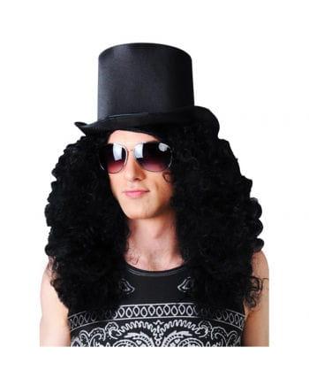 Curly Rocker Wig Black