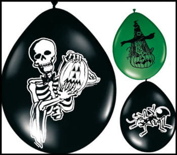 Halloween Luftballons gemischt