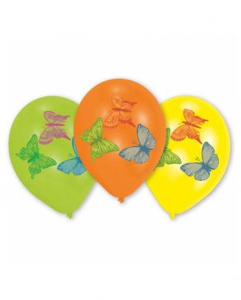 Luftballons mit Schmetterlingen 8 St.