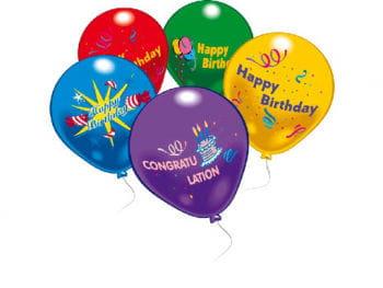Happy Birthday Balloons 10 Pcs.