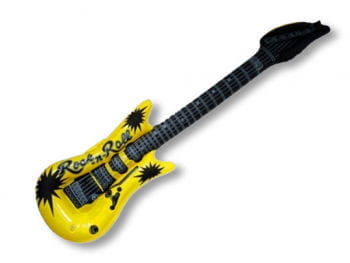 Inflatable guitar yellow