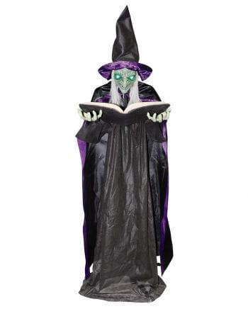 Märchenhexe mit Buch Standfigur 172cm als Deko | Horror-Shop.com