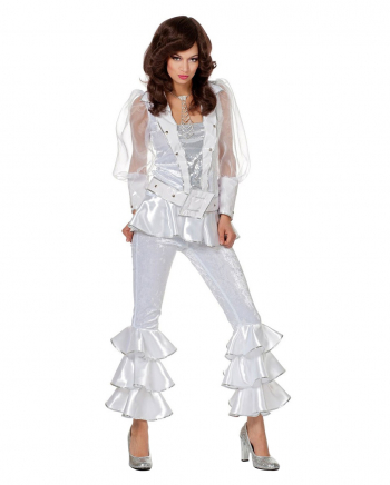 Mama Mia 70s Ladies Costume White