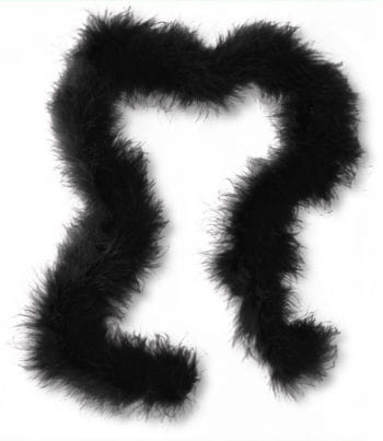 Marabou Feather Trim Black
