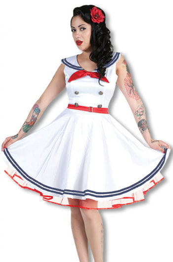Sailor dress white red