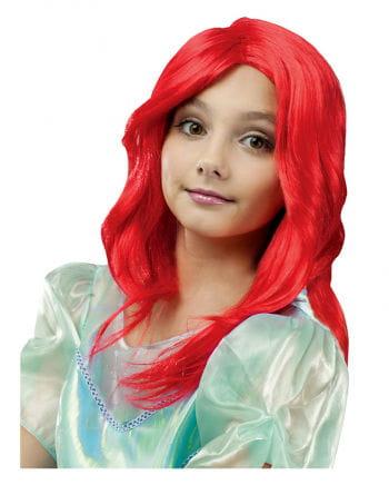 Meerjungfrau Kinderperücke Rot