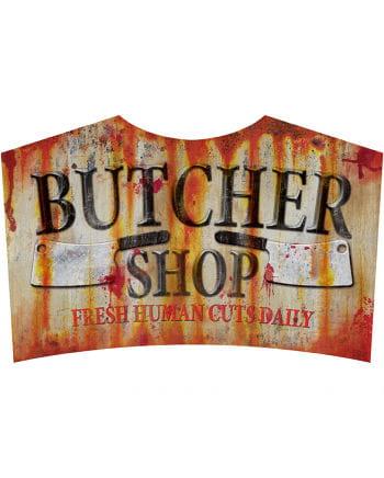 Butcher Shop Metallschild