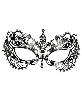 Filigrane Metall-Augenmaske mit Strass schwarz