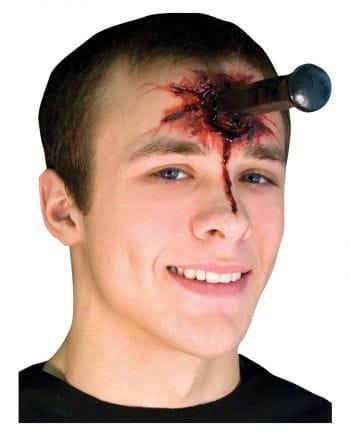 Metal peg latex wound