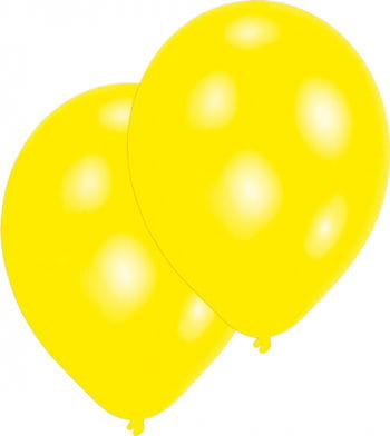 Metallic Gelb Luftballons 50 St.