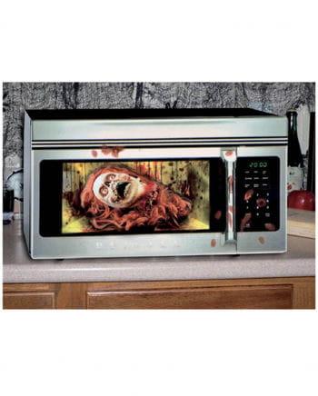 Halloween microwave foil Zombie woman
