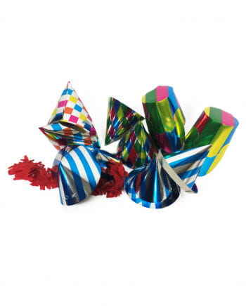 Mini party hats colorful pack of 10