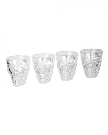 Skull Schnapps Glasses 4 Pcs. Plastic