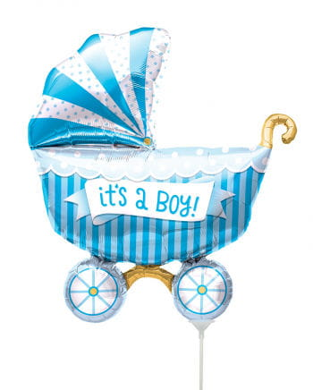 """Mini foil balloon stroller """"It`s A Boy"""""""