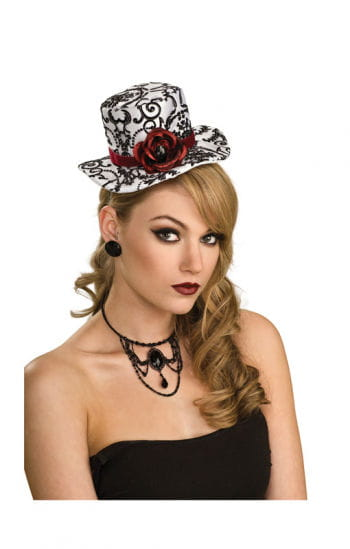 Mini hat with black rose