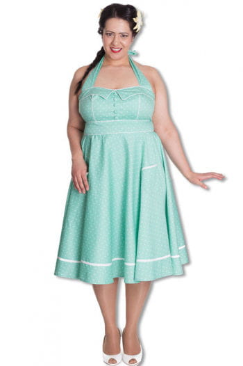 Mint green petticoat dress Plus Size