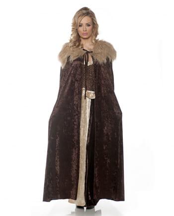 Mittelalter Kostüm Umhang braun