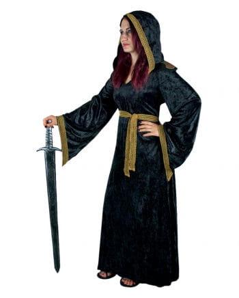 Medieval Priestess Costume Black-gold M / 38