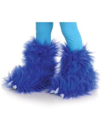 Monster Fur Boot Cuffs Blue