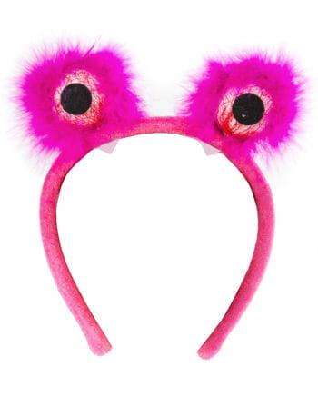 Monsteraugen Haarreif pink