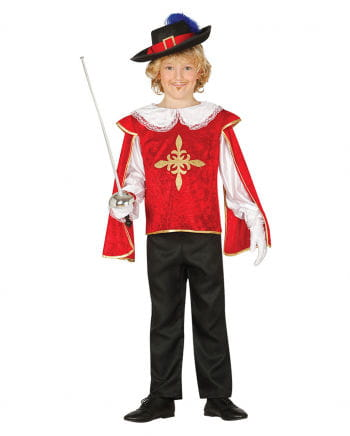 Musketeer Children's Costume Red-gold