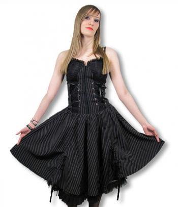 Gothic Pinstripe Dress Large