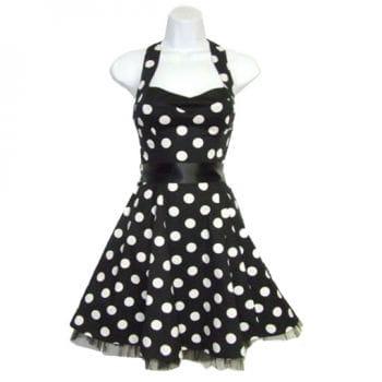 Halter Rockabilly Dress black and white
